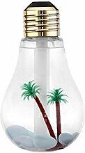 Luftbefeuchter Kleine Luftbefeuchter Mini Luftreiniger 7-farbige LED Birne Home Car Yoga Büro (16 * 9 * 9 cm, Gold, Silber, Matte Oberfläche) (Color : Matte surface)