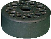 Luftbefeuchter Luftreiniger aus Keramik - verschiedene Farben - Höhe 6,8 cm (Grau)