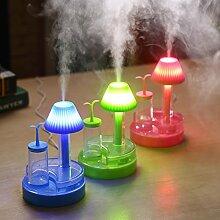 Luftbefeuchter, Mini Nachtlicht Luftbefeuchter USB grün Bud Luftbefeuchter blau