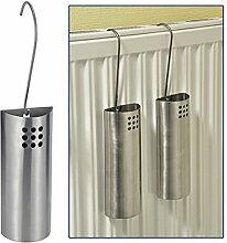 Luftbefeuchter-Set aus Edelstahl, 2 teilig, 20 x 8 x 4 cm: Heizung Heizkörper Verdampfer Wasserverdunster