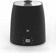 Luftbefeuchter TaoTronics 5,5L Kapazität Warm- und Kaltnebel Ultraschall Befeuchter für 40-60㎡ zu Hause und im Büro mit 6 Benutzerfreundlichen LED-Symbolen, Exakter Feuchtigkeitsmessung, 360° Drehbarer Düse, Cleverem Niedrigwasserschutz