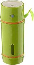 Luftbefeuchter tragbaren Luftreiniger Aurora Mini Ultraschall-Luftbefeuchter Hause Büro, Schlafzimmer, Wohnzimmer, Auto, andere (8 * 8 * 12 cm) L&Y ( Color : Yellow-green )