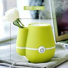 Luftbefeuchter USB Mini Air Creative Home Office Auto Nette Stumm Vase Feuchtigkeitsspendende,Grün