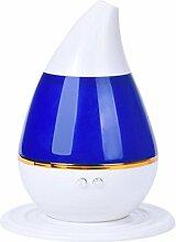 Luftbefeuchter Wassertropfen - SODIAL(R) Wassertropfen Haus Ultraschall Aroma Diffuser Luftbefeuchter Purifier Zerstaeuber (blau)