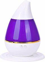 Luftbefeuchter Wassertropfen - SODIAL(R) Wassertropfen Haus Ultraschall Aroma Diffuser Luftbefeuchter Purifier Zerstaeuber (lila)