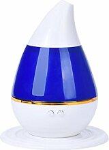 Luftbefeuchter Wassertropfen - TOOGOO(R) Wassertropfen Haus Ultraschall Aroma Diffuser Luftbefeuchter Purifier Zerstaeuber (blau)