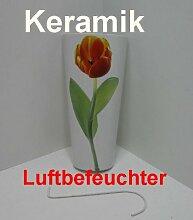 Luftbefeuchter, Wasserverdunster Keramik, Flachverdunster Design Tulpe, 323510