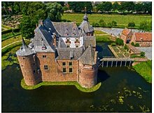 Luftbild Ammersoyen Castle Village - 500 Puzzles