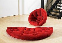 Lugano - Futon Lounge Sessel - Rot