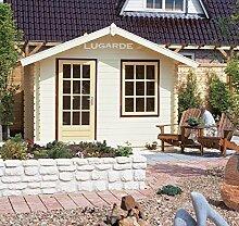 Lugarde Blockhaus Somerset aus Fichtenholz NEU Blockbau mit Satteldach und Dachvorsprung
