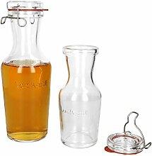 Luigi Bormioli 2er Set Lock-Eat Glas-Karaffe 0,5 &