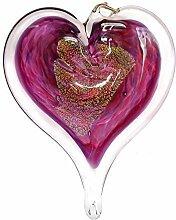 Luke Adams Glas-Geburtsstein-Herz, 7,6 cm Juni