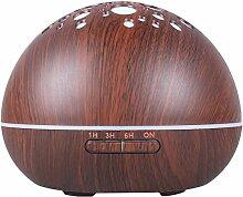 Lukis 300ml Aroma Diffuser Holzmaserung Humidifier LED Luftbefeuchter Ultraschall Schwarz