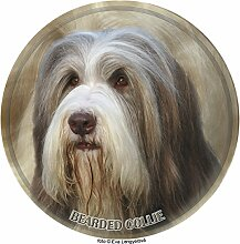 LUKKA Bearded Collie Aufkleber 25 cm