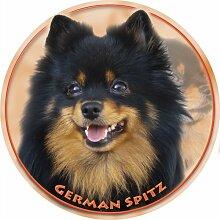 LUKKA Deutscher Spitz Aufkleber 15 cm