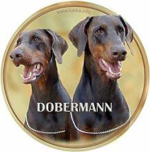 LUKKA Dobermann Aufkleber 15 cm