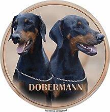 LUKKA Dobermann Aufkleber 25 cm