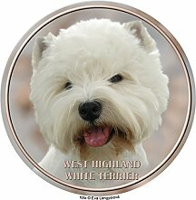LUKKA West Highland White Terrier Aufkleber 25 cm