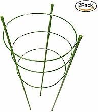 lulalula Pflanze Unterstützung Ringe, 2Stück Garten-Gitter Tomaten und Pflanzen Support Käfig Ständer Edelstahl Unterstützung für Klettern Blumen Gemüse Obs