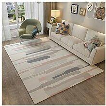 LULU DITAN Nordic Einfacher Teppich, Rechteckiges