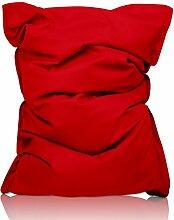 Lumaland Luxury Lederimitat XXL Sitzsack 380l Füllung 140 x 180 cm Indoor Outdoor verschiedene Farben Ro