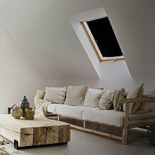 Lumaland Thermo Sonnenschutz mit Saugnäpfen ohne Bohren kompatibel zu Velux Fenstergrößen, 3 Schicht System für Reflektion, Thermo-Isolierung und Lichtundurchlässigkeit 47 x 75 cm