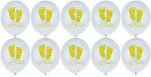 Lumanuby 10x Baby Fußabdruck Helium Luftballon