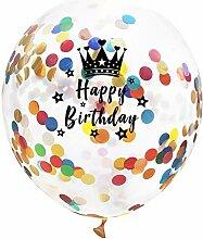Lumanuby. 10x Bunt Konfetti Luftballon Latex für