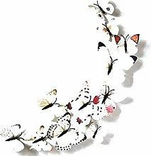 Lumanuby 12 Stück 3D Schmetterlinge Wandtattoos