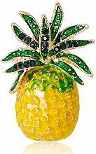 Lumanuby 1x Ananas Collar Pin Mode Glasur Pflanze