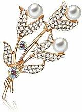 Lumanuby 1x Elegant Perle Blumenstrauß Brooch