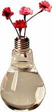 Lumanuby 1x Transparent Vase aus Glas Glühbirne