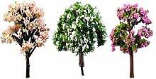 lumanuby 3Miniatur Baum Pflanzen Baum Modell, Modell Scenery, Architektur, Bäume Zubehör Puppenhaus Fairy Garden Ornament Deco (zufällige Farbe)