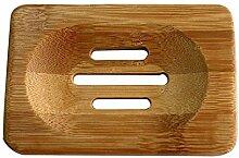 Lumanuby Bambus Seifenschale Seifen Box