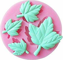 lumanuby Kuchen Form Leaf–Form Kuchen, Schokolade Form Backen Werkzeuge Modellierung Backen Kuchenform Werkzeug Ice Cube Schokolade Cookie Cake Dessert Mould DIY für Backen Küche Stil, Pink 6.6* 6.6* 1cm
