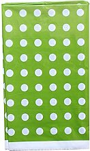 lumanuby Tischdecke Einweg Kunststoff rund Punkte Tischdecke Tischläufer für Party Camping Picknick 180x 108cm, zwei Farben erhältlich, plastik, grün, 180*108cm