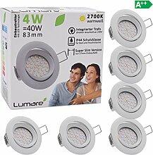 Lumare LED Einbauspot Extra Flach 4W 230V IP44 6er