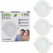 Lumare LED Einbaustrahler 3W 230V IP44 Ultra flach