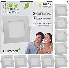 Lumare LED Einbaustrahler 6W 230V IP44 Ultra flach