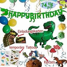 LumeeStar Dinosaurier Party-Set Geburtstagsdeko