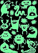 lumentics Monster Leuchtaufkleber - Super stark im