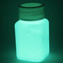 lumentics Premium Leuchtfarbe 100ml - Im Dunkeln leuchtende Farbe, Helle Nachleuchtfarbe, Selbstleuchtende Wandfarbe, UV Glühfarbe, Glow (Blau)