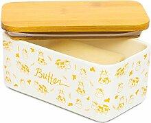 Lumicook Butterdose aus Porzellan mit Deckel,