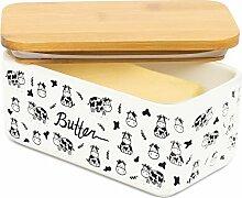 Lumicook Porzellan-Butterdose mit Deckel, Deckel
