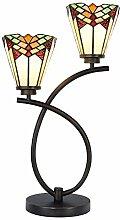 Lumilamp Tiffany Lampe, Tischleuchte, Buro