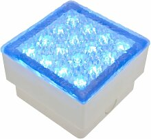 LuminalPark LED-Fliese blau, 1,5W, 100x100 mm