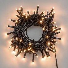 LuminalPark Lichterkette 5,6 m, 80 Mini LEDs