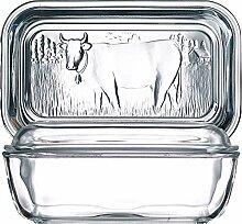 Luminarc 73115 Helper Butterdose, 10,5x17cm, Glas,