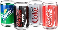 Luminarc Coca-Cola Glasdosen, verziert, inkl.