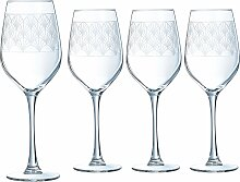 Luminarc Weinglas Paradisio, (Set, 4 tlg.), mit